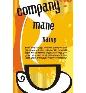 黄色主调画有一杯热咖啡图案的海报设计 CDR