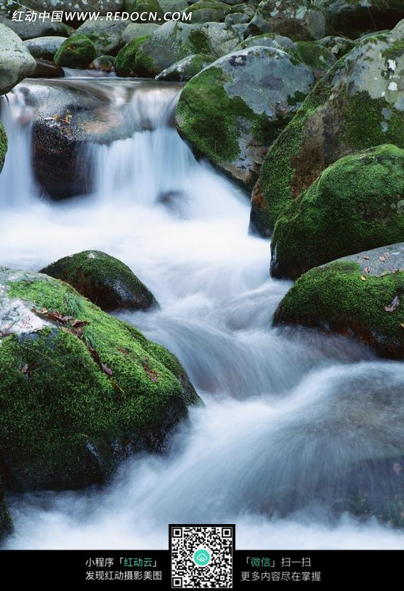 免费素材 图片素材 自然风光 自然风景 岩石上的激流美景  请您分享