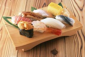 美味的什锦寿司图片素材