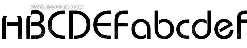 英文字体英文字母安装字体模板字体设计&