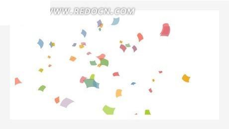 网页源码  网页设计 网页模板 网页素材  简洁白色背景彩色碎纸网页