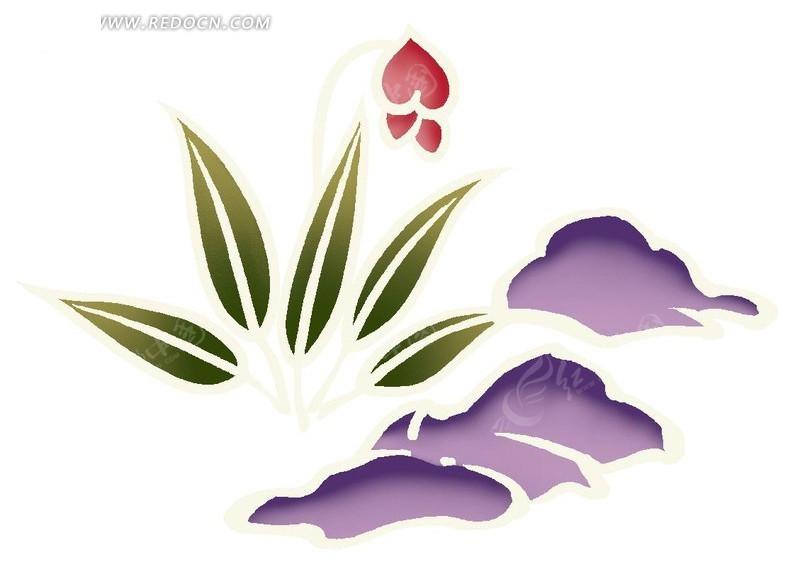 可爱的手绘花朵插画文件
