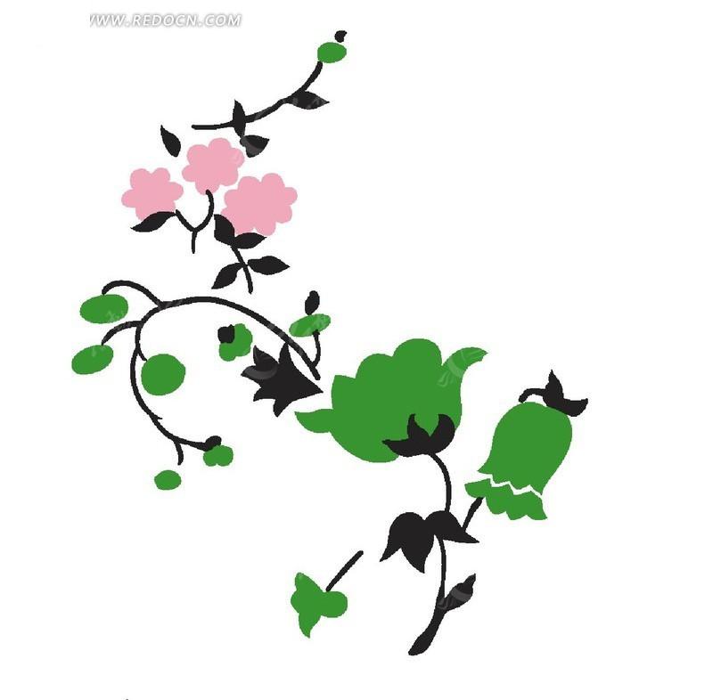 手绘卡通花瓣插画设计文件展示