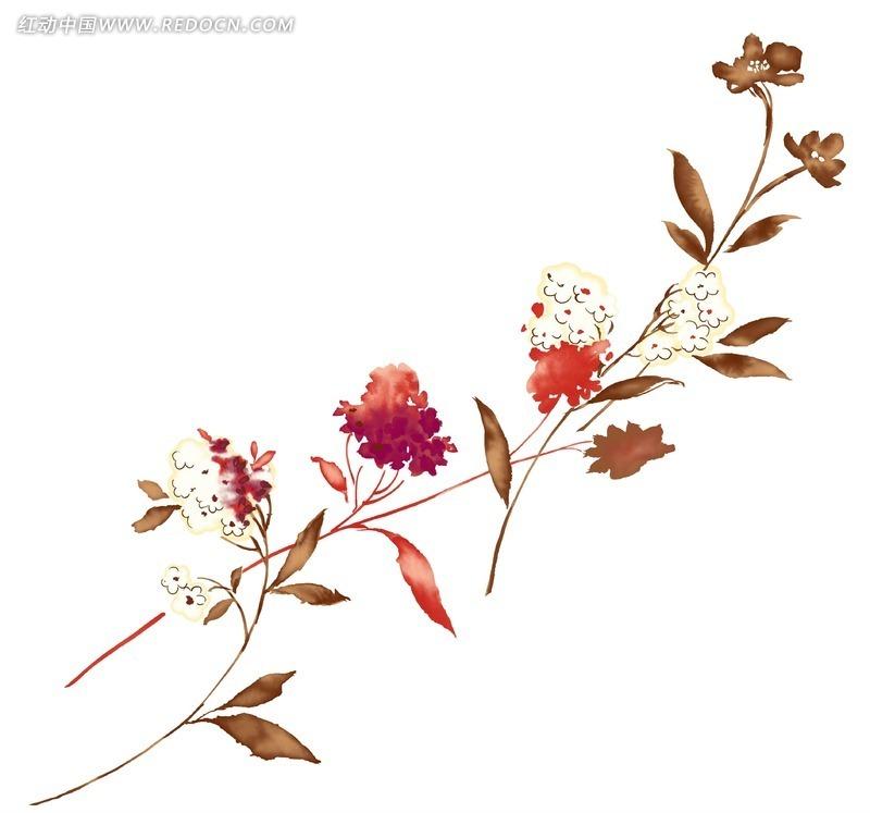 创意花朵卡通插画