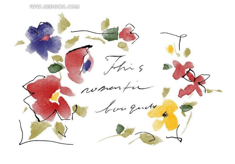 花纹花边 > 手绘水彩画花朵设计稿件  免费下载我要改图 素材编号