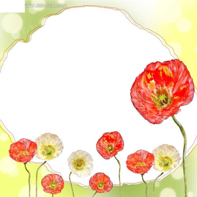 手绘精美带花的运动鞋_花纹花边_红动手机版