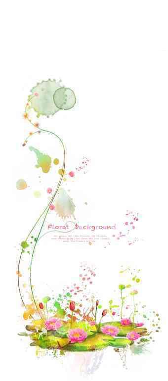 手绘彩色创意水彩画插画文件
