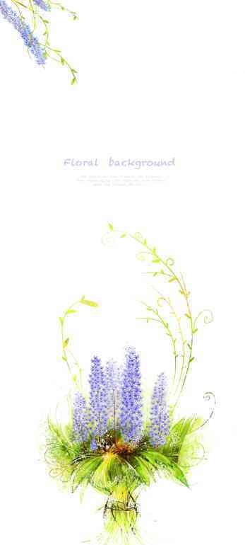 创意水彩画植物插画文件