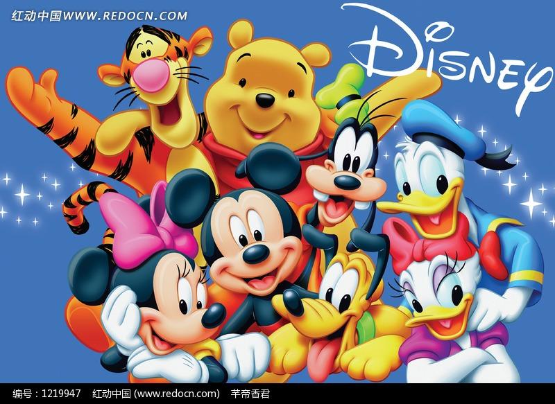 迪士尼手绘插画