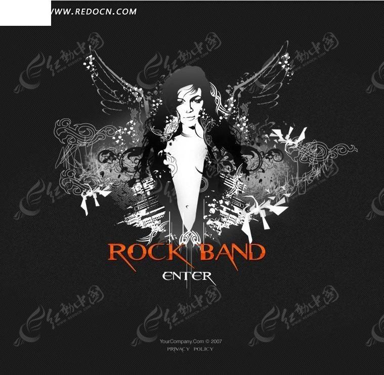 摇滚乐队网页模板图片图片