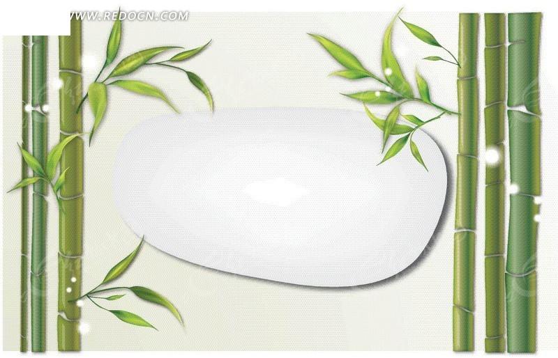 免费素材 矢量素材 花纹边框 花纹花边 手绘竹子竹叶模板  请您分享