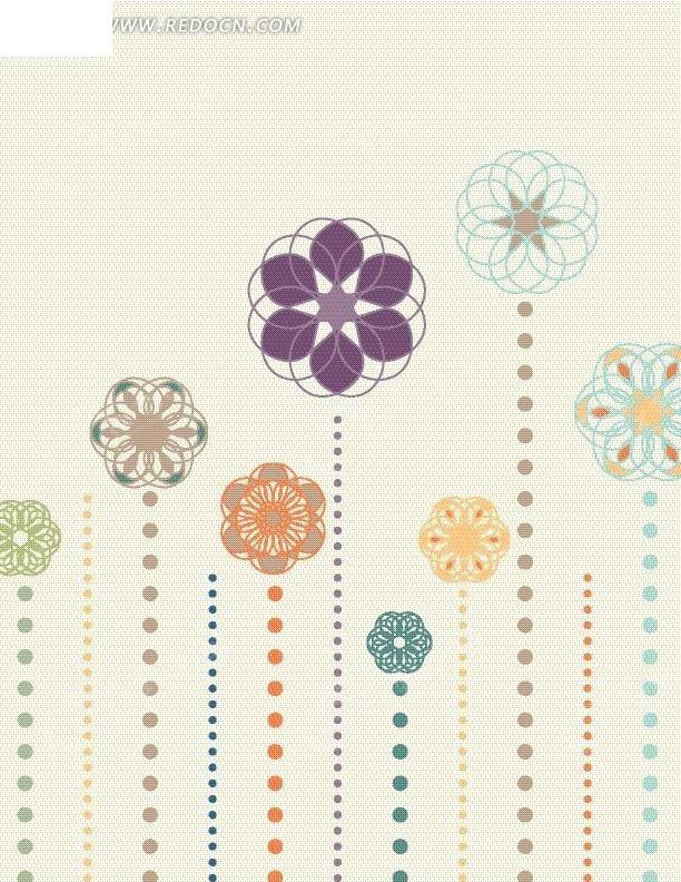 括号状花边-花茎 花朵图片 花朵 矢量图