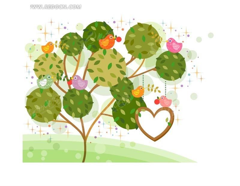 树图片手绘