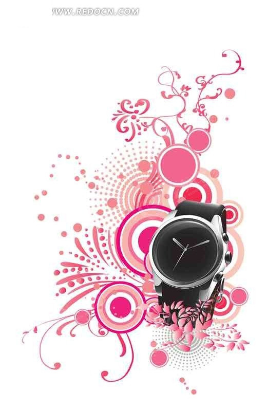 手表 创意图形 创意图形 电脑手绘 时尚 抽象图像 创意 手绘 艺术
