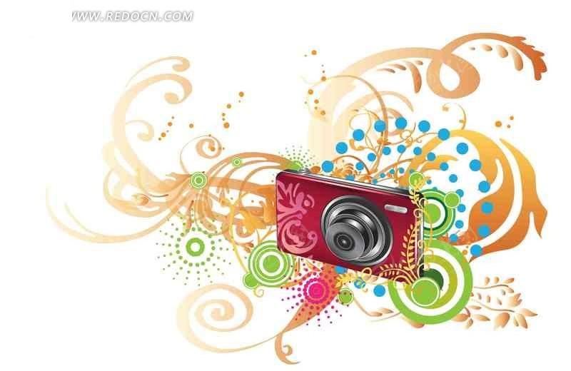 相机创意图形psd分层素材图片