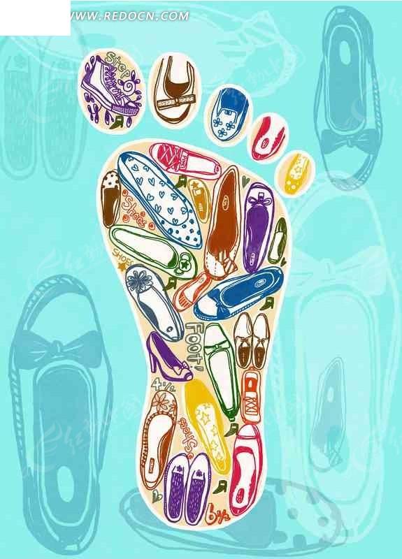 鞋子 美鞋 购物 小元素图片