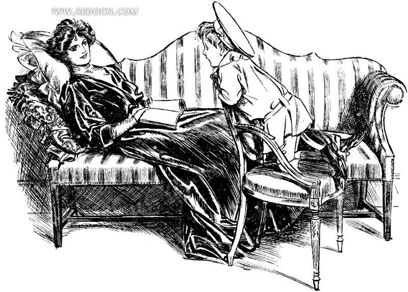 欧美人物 网页素材 表情 妈妈 孩子 教孩子学习 乐趣 沙发 站在椅子上