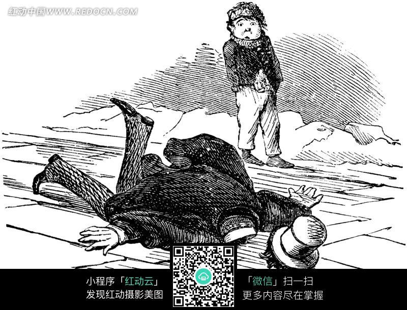 欧式漫画穷人家庭的小孩_人物卡通图片_红动手机版