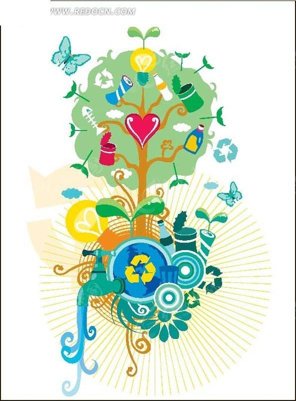 创意节能环保插图设计图片
