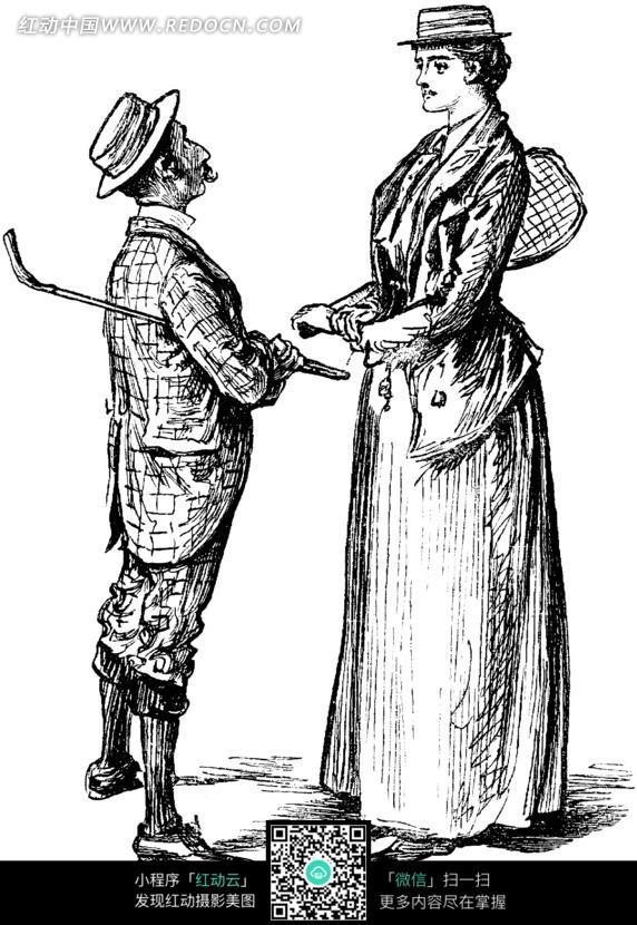 古代欧洲男女 帽子