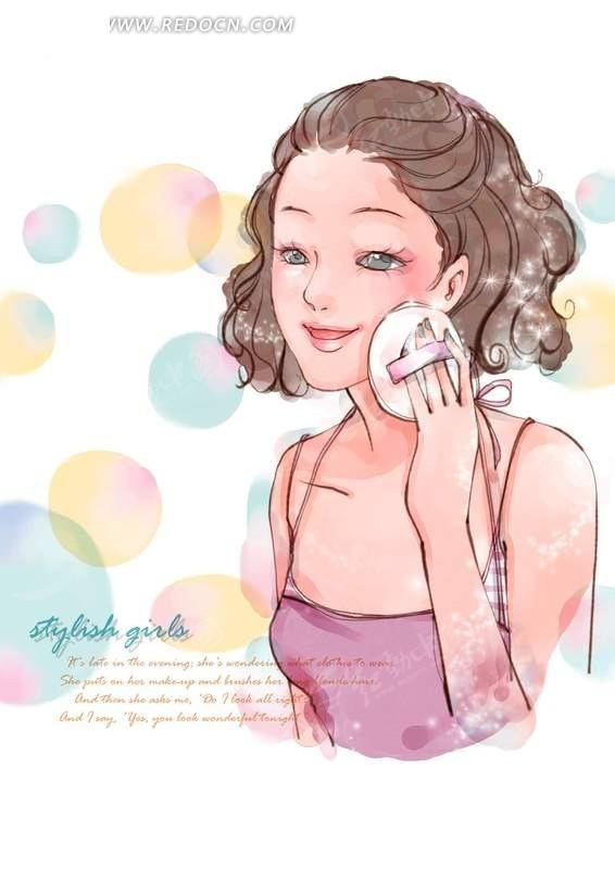 漂亮女生手绘图片大全