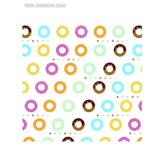 免费素材 矢量素材 花纹边框 底纹背景 五彩圆形背景素材  请您分享
