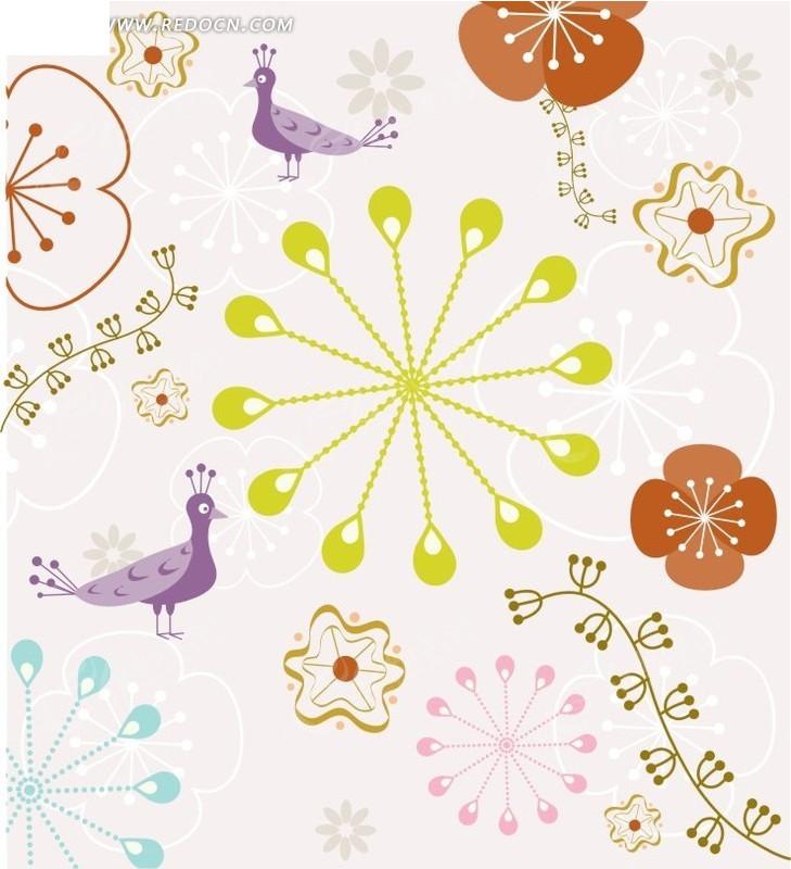 可爱的儿童艺术插画矢量素材