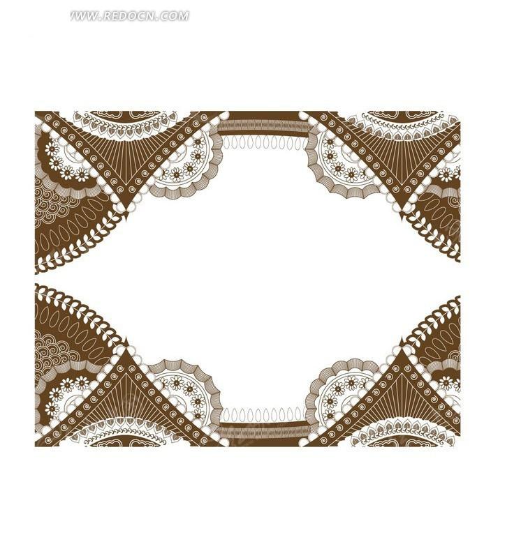 欧式花边设计矢量素材模板下载