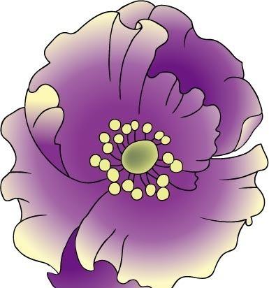 紫色罂粟花唯美图片; 欧式花纹图案…_来自安静的罂粟花的图片分享-堆