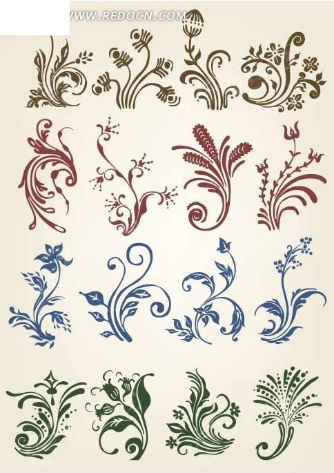 欧式古典植物花纹设计