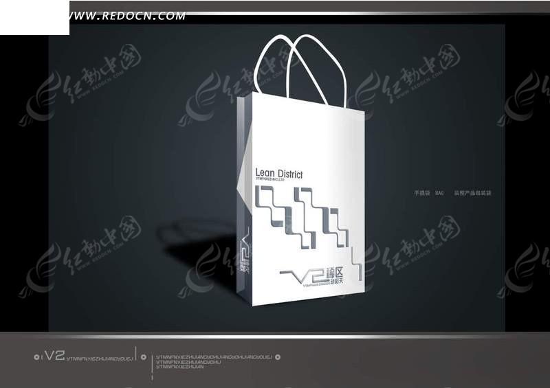 企业手提包装袋外观设计模板