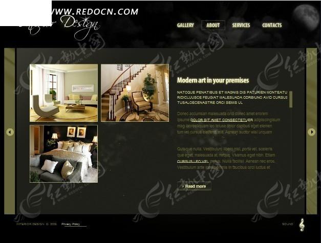 室内装修设计网页模板图案设计抽象图片