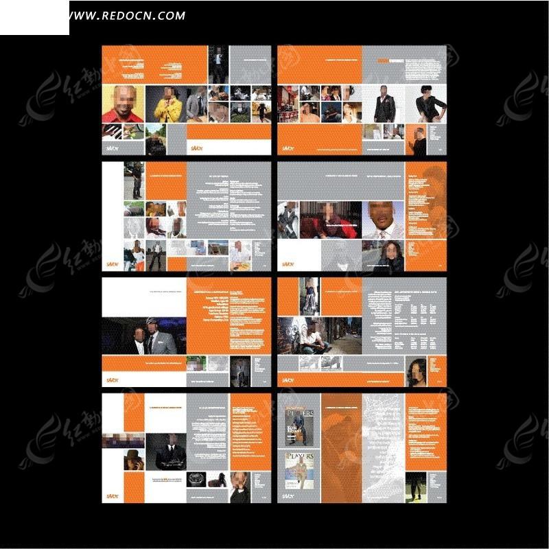 欧美现代企业宣传册设计图片