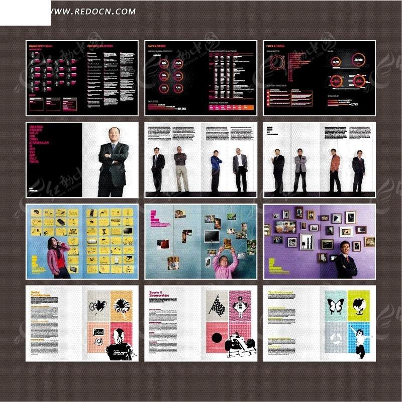 欧美公司产品宣传册设计图片