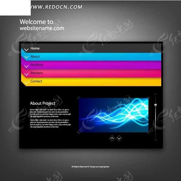 炫彩风格时尚网站网页设计模板