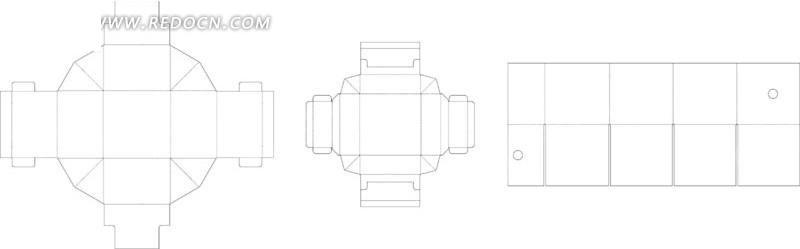 独特的包装盒设计图展开图ai
