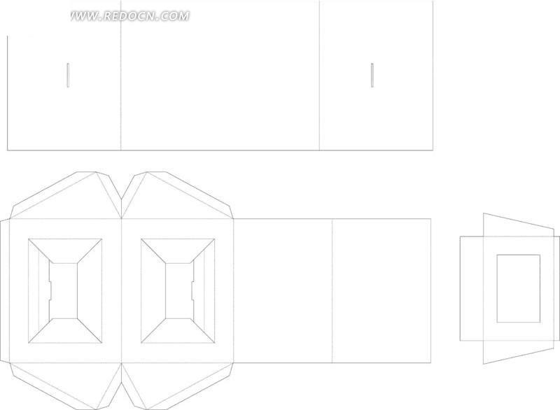 指甲包装盒展开图 糖果包装盒展开图设计