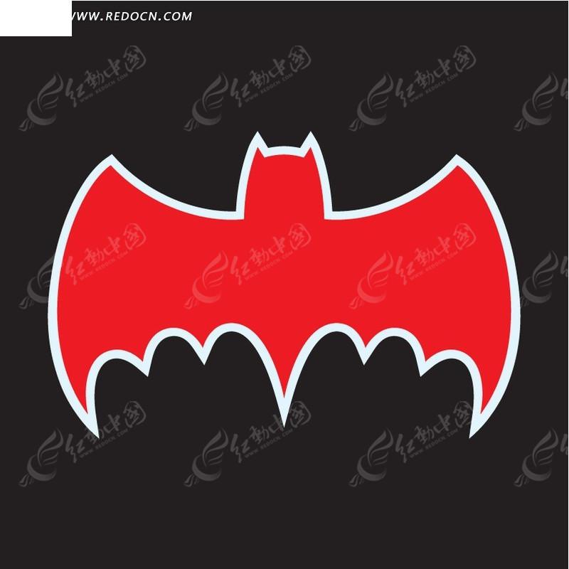蝙蝠侠标志 卡通漫画 插画 手绘 eps 矢量素材  免费下载 标志