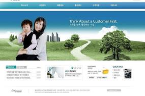 韩国环保公司网页模板PSD