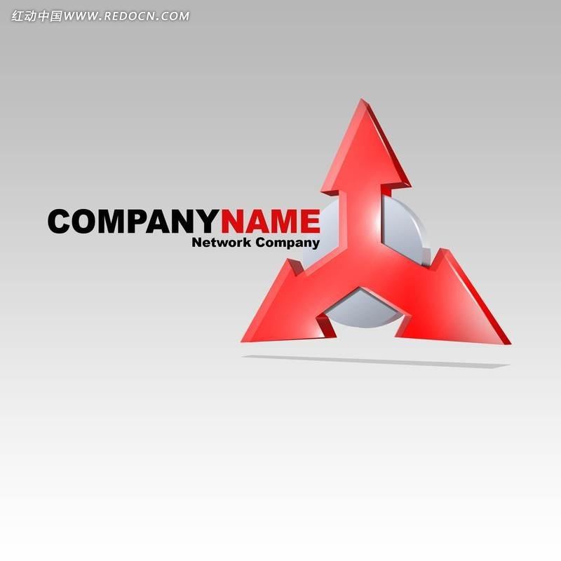 网络公司信号塔创意形象标识设计psd素材