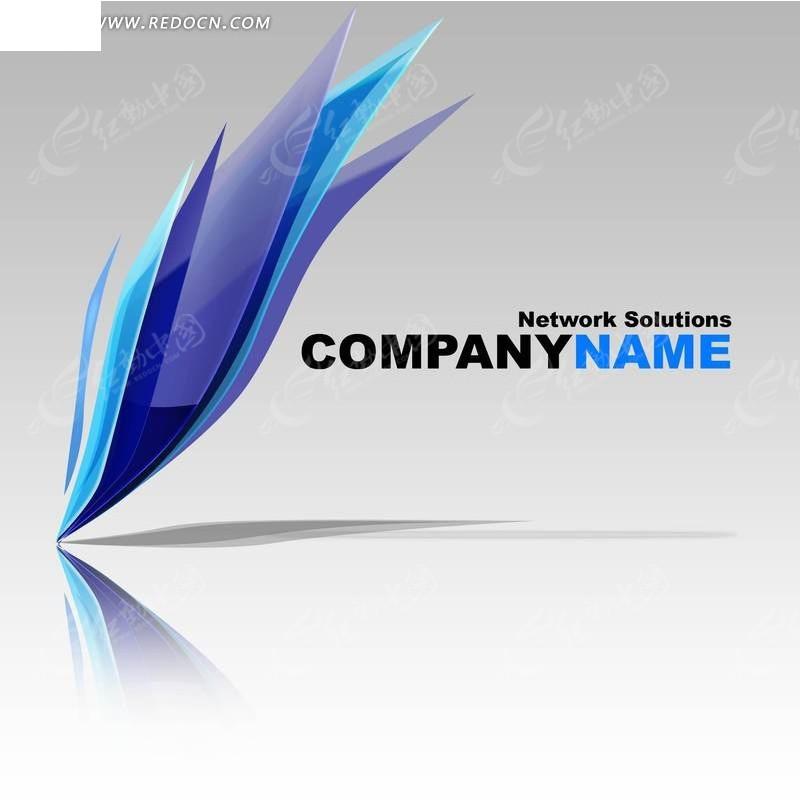 网络公司 logo 蓝色 湖蓝 天蓝  倒影 影子 企业 标识 创意设计 标识图片