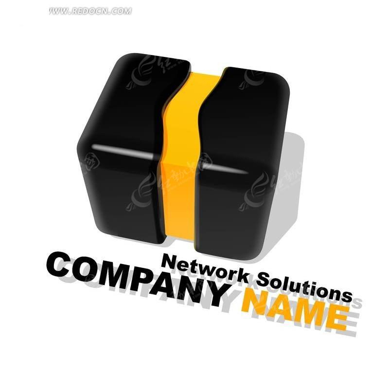 网络公司变幻正方体组合创意形象标识设计素材图片