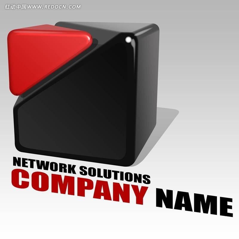 网络公司正方体组合创意标识设计psd素材图片