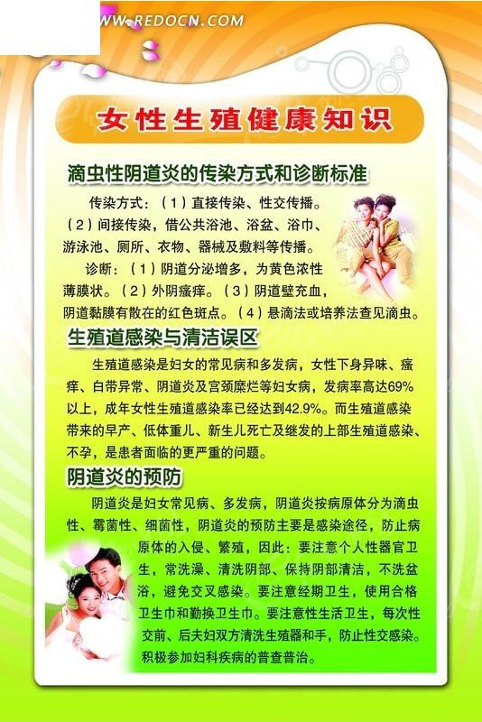 女性生殖健康知识宣传展板PSD素材(编号:129