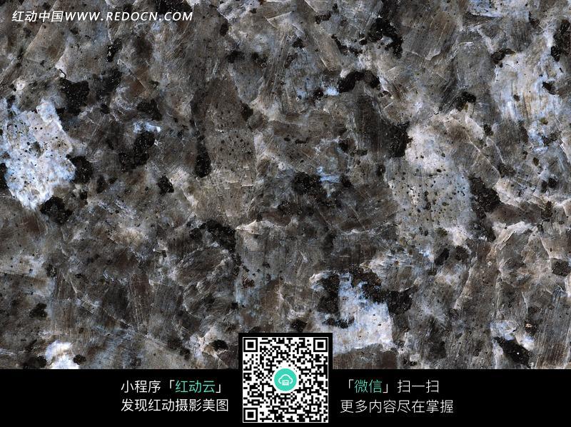 灰色和淡蓝色块状岩石纹理图片