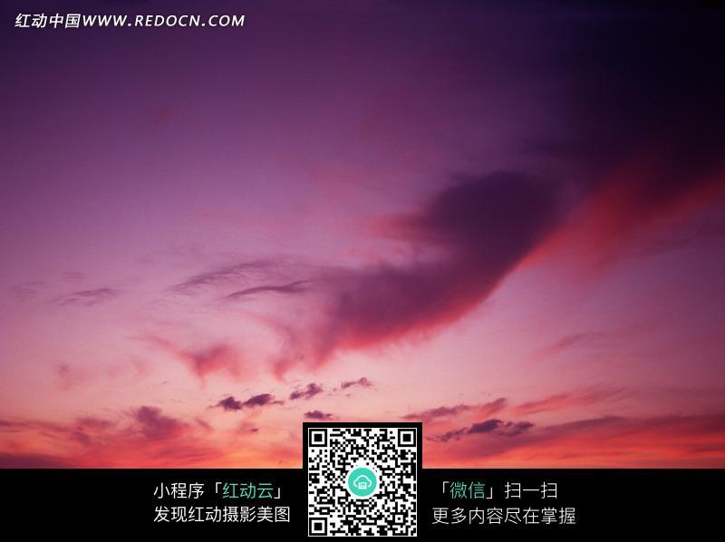 黄昏 天空 粉色云朵 晚霞 美景  风景图片 摄影图片