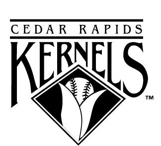 Kernels白底黑字标志设计矢量