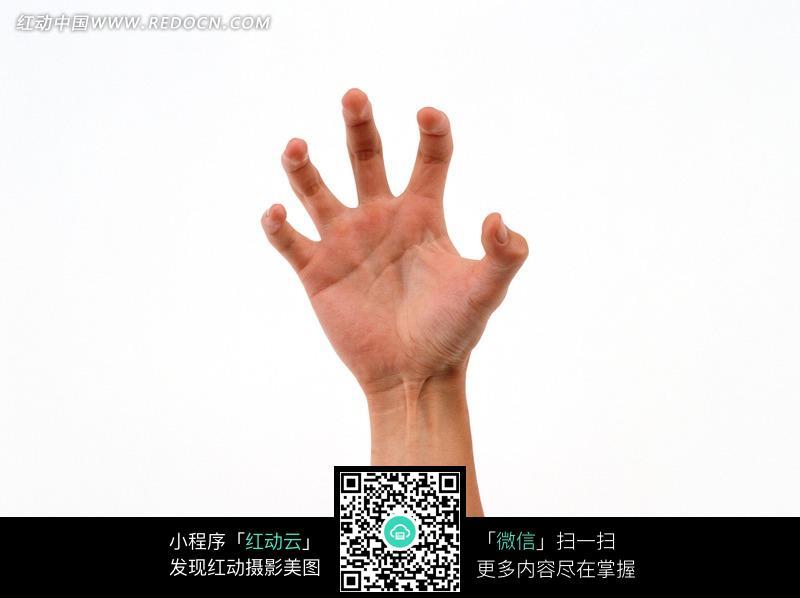 手指弯曲成爪形的手图片