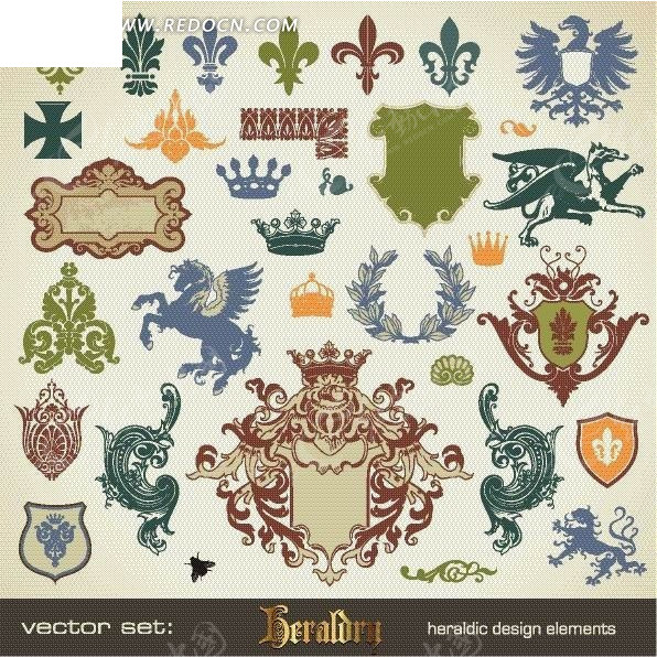 欧式古典花纹和标牌