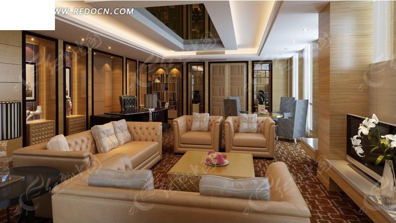豪华客厅室内装修设计图